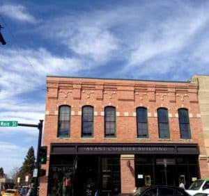 Avant Courier Building. CD Meyer Law Firm office. Main Street, Bozeman.
